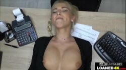 Big Tits Blonde Fucks Loan Manager For Approval