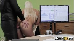 Huge tits MILF does anything for a loan to open her store