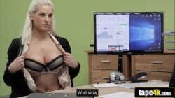 He Couldn't Reject Ultra Sexy Blonde's Loan Application – Blanche Bradburry