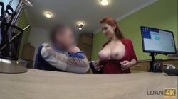 LOAN4K. Redhead with huge hooters has sex for cash with loan agent